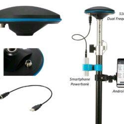 S100 am Carbonstab mit Smartphone